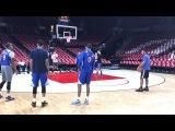 Warriors (2-0) morning shootaround before G3 vs Blazers Draymond, Stephen Curry, Durant, Klay