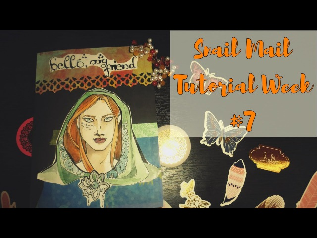 Mail art / Snail mail Tutorial / Elf Theme / Неделя писем - седьмой выпуск / Decoration