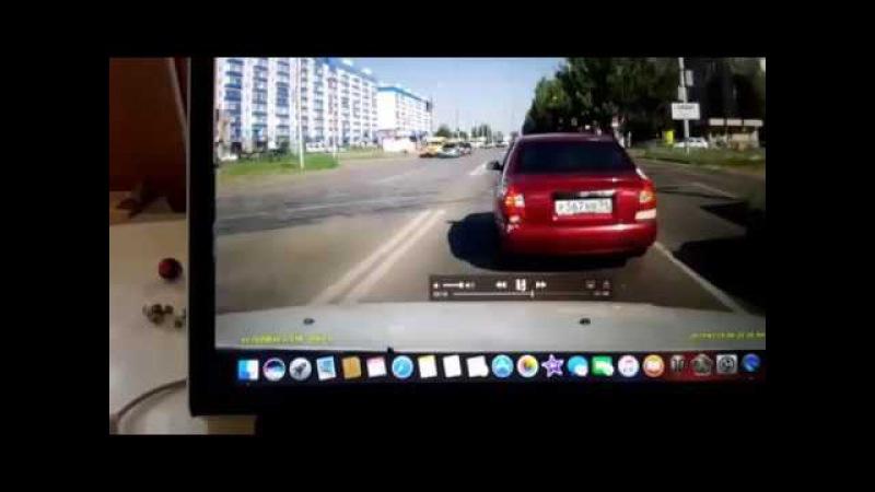 Момент столкновения в тройном ДТП в Волжском. 29.06.2017