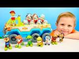 ЩЕНЯЧИЙ ПАТРУЛЬ И КИНДЕР СЮРПРИЗЫ. Развивающие видео для детей про МАШИНКИ PAW PATROL