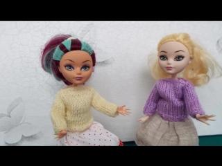 Как связать  свитер для куклы   самый простой способ. Knit sweater for dolls