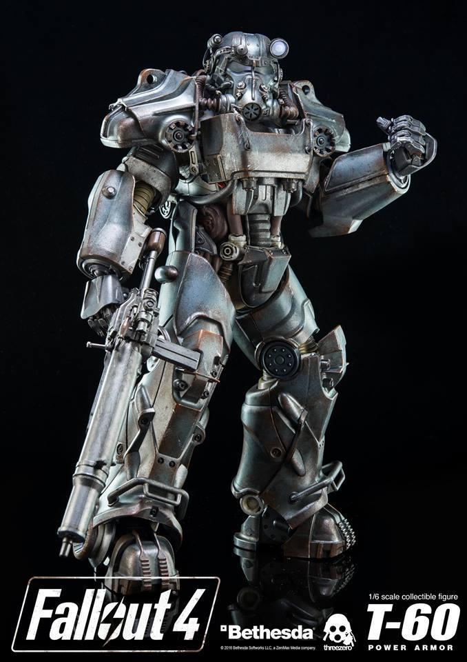Компания ThreeZero представила две фигуры формата 1/6 по игре Fallout4 , а именно силовую броню Т-60 в классическом виде и эксклюзивном - Atom Cats.