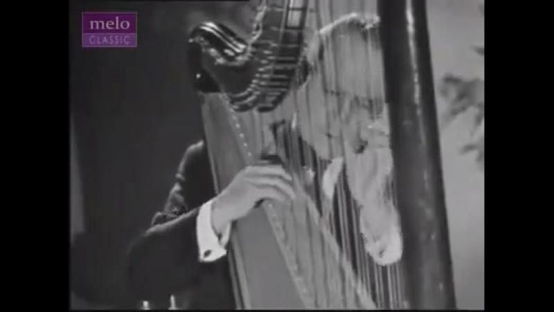 The Spanish harpist Nicanor Zabaleta