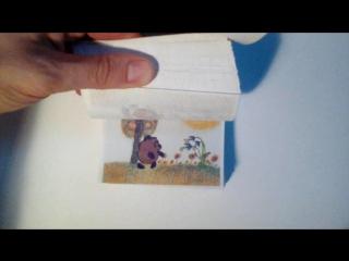 мультик в блокноте «винни-пух»