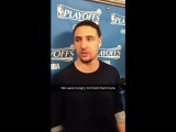 Sights &amp Sounds from Warriors (4-0) postgame, G4 vs POR Klay, Stephen Curry, JaVale, Zaza, Durant