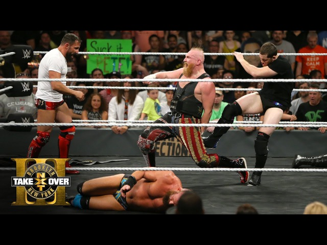 Kyle O'Reilly Bobby Fish unleash vicious post-match assault on SAnitY: NXT TakeOver: Brooklyn III