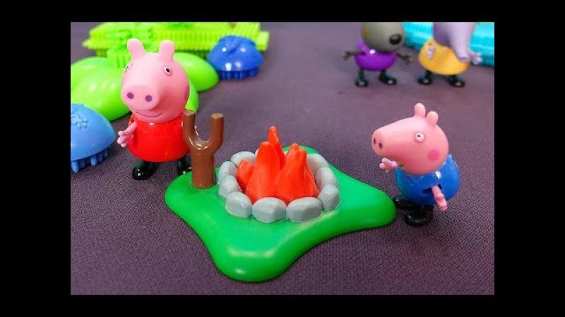 Peppa Pig en français Peppa George et ses amis vont dans une île Peppa trouve une fleur rare