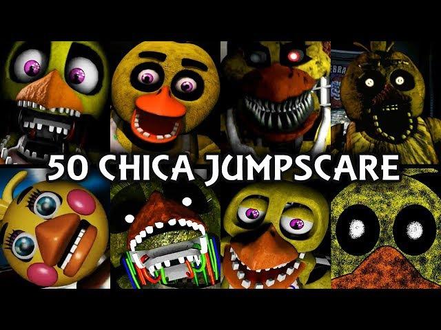 50 CHICA JUMPSCARES! | FNAF Fangame
