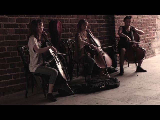 Violoncelles Célestes - Hallelujah (amazing cello street cover)