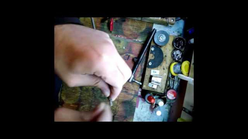 Как быстро сделать электрод для сварки чугуна и заварить сломанные чугунные тиски