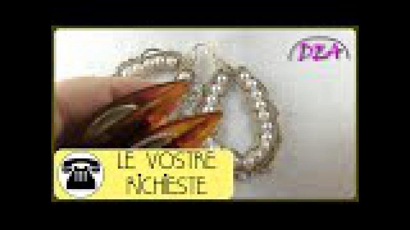 Tutorial N°6 - Orecchini Corona di perle, versione navette. 1°Parte
