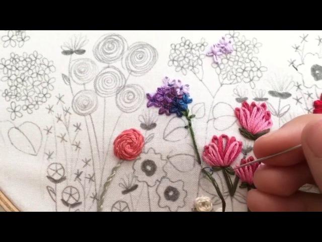 Lazy Daisy Flower Hand Embroidery Tutorial