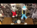 DIY Украшаем новогодний стол. Вяжем крючком костюмы деда Мороза и Снегурочки для  ...