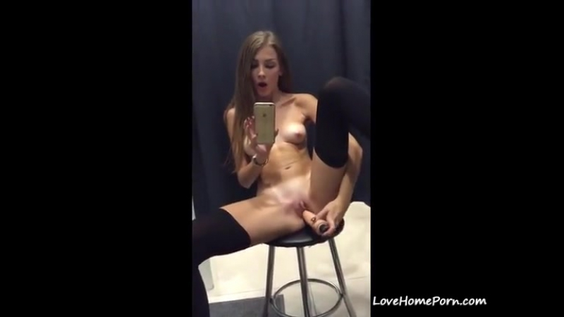 Hot Teen Play Pussy in Public Dare