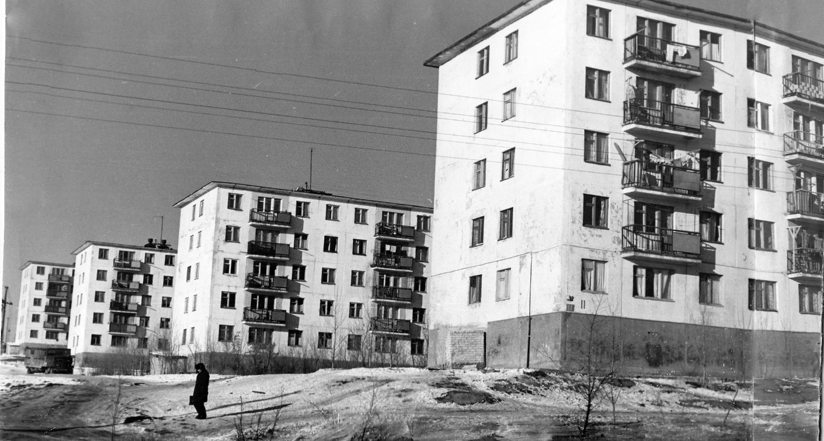 4-й микрорайон. 1972 год
