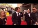 Benedict Cumberbatch arrival on BAFTA 2017
