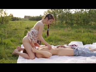 Arwen Gold - Beautiful Brunette Fucked At A Picnic