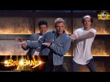 Nick Carter teaches the boys the Everybody dance Boy Band
