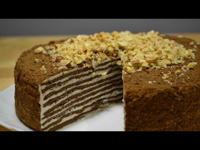 Торт СПАРТАК или Шоколадный МЕДОВИК с заварным кремом Honey cake смотреть онлайн без регистрации