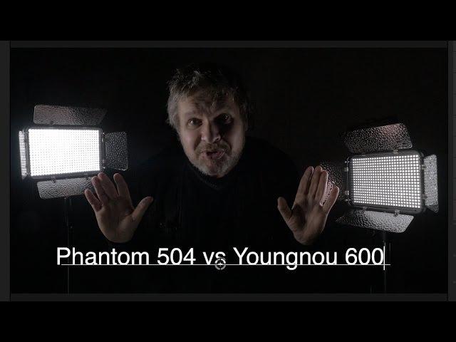 PHANTOM PT504 против Yongnuo 600 Отличия и особенности работы с видеосветом