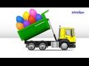 Мультики про машинки Учим овощи и фрукты Яйца с сюрпризом Грузовичок Trucks Развив ...