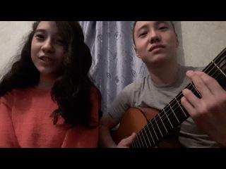 Биназир - Запах клубники. Binazir cover by Marlen. На гитаре турецкая песня музыка. 2016 год