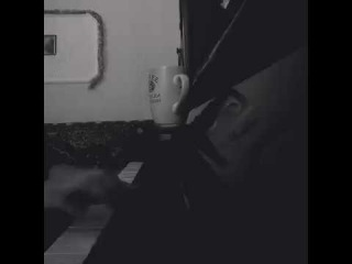 Piano. Girl play love song