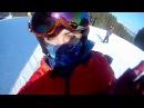 Эпичное падение на лыжах в Карпатах на снег