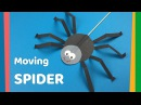 DIY for kids Moving Spider craft   Very easy and fun craft