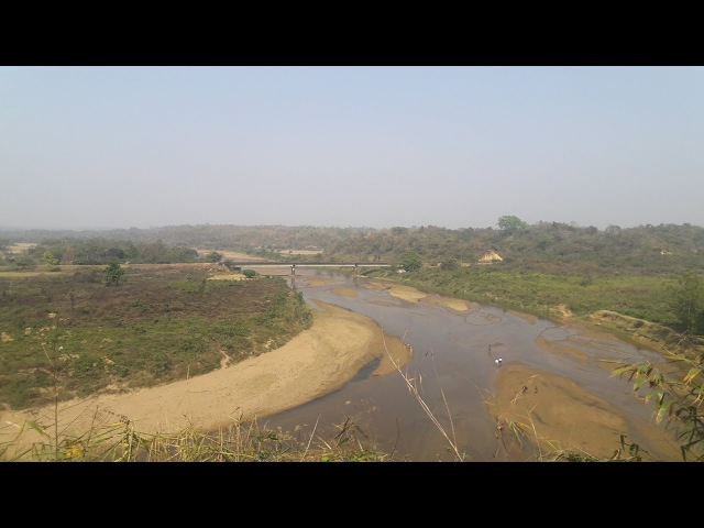 Beautiful Landscapes River Valley Panihata Sherpur, Bangladesh Border