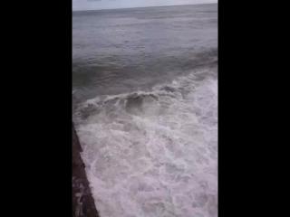 море,Крым,Алушта шторм