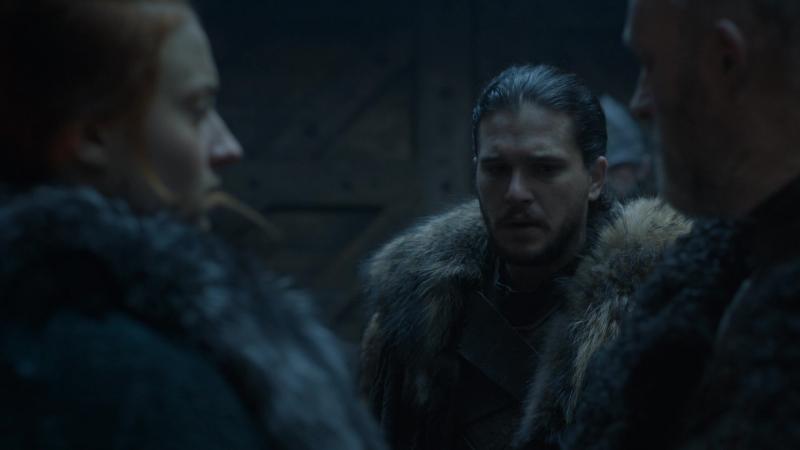 Игра Престолов - Джон Сноу и Санса Старк в Темнолесье. И где же был король Робб, когда железнорожденные взяли наш замок?