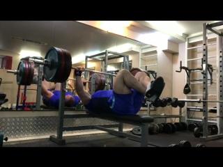 Мурад Алибегов - военный жим 205 кг на 8