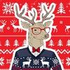 Новогодние свитера с оленями, шарфы и шапки