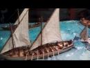 Фрагмент диарамы морского боя