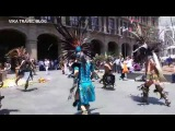 Dance of the Mexican Indians, at Easter 2017 in Mexico city