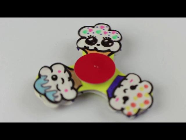 2 DIY Спиннер для девочек своими руками   Как сделать спиннер без подшипника с кекс...