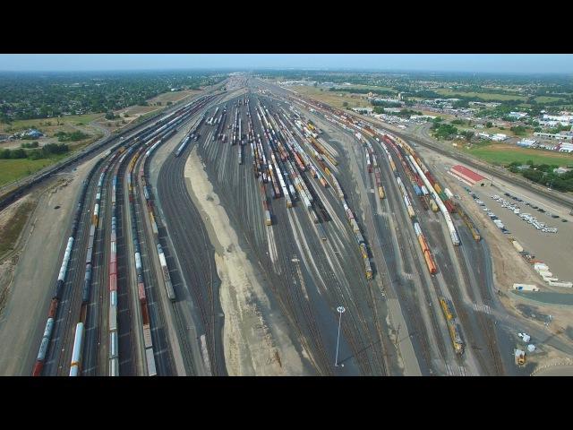 Roseville Rail Yard - The largest rail yard in the West Coast - California - DJI Phantom 3 Pro