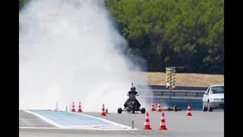 261 kph WATER ROCKET TRIKE ǀ 0-100 kph in 0.55 second (5.1g) ǀ Rider: François Gissy
