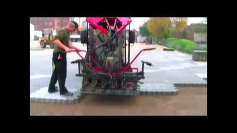 Business idea Machine for laying paving slabs Stacks the paving slab with square meters