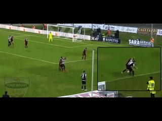 Riccardo Orsolini (Ascoli) humiliates a defender with two exceptional dribbles