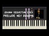 Johann Sebastian Bach - Prelude No.1 BWV846 - Piano Tutorial by Amadeus (Synthesia)