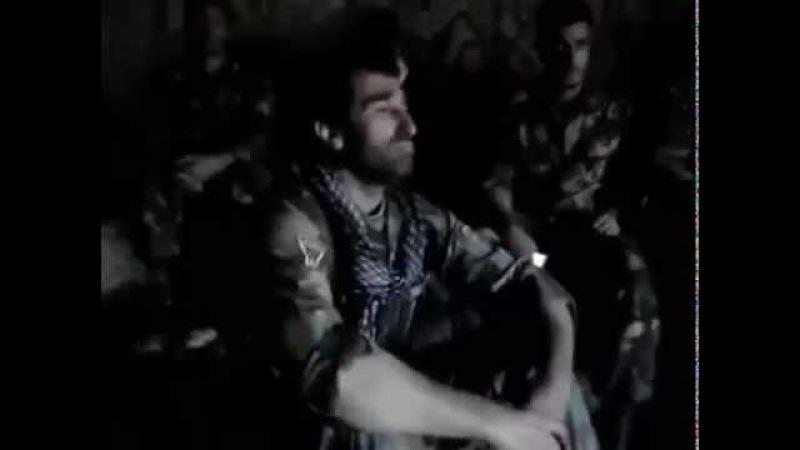 Suriyada şəhid olmuş azeri komandir ana mahnısını ifa edir