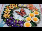 Quilled Flower Wreath Part 3 Quilled wreath Christmas wreath