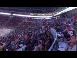 T-killah и Олег Майами запускают волну на матче Россия - Канада