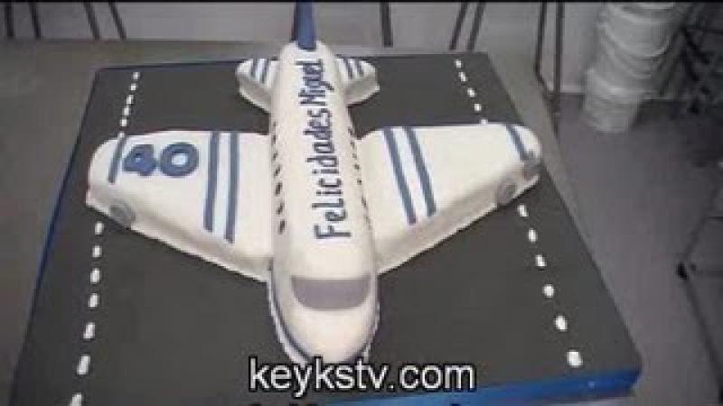 Cómo hacer una tarta de avión de fondant o masa elástica Airplane cake