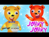 Mega Gummy bear caught eating Sugar Johny Johny yes Papa finger family Rhyme for Kids Ice cream toys