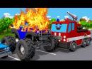 Пожарная Машина и Монстр Трак! Смотри все серии! Сборник - Новые мультики про маш ...