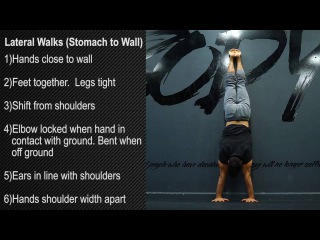 Lateral Walks (Stomach to Wall)