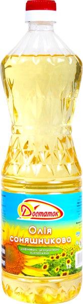 Олія соняшникова рафінована дезодорована, Достаток, 1л